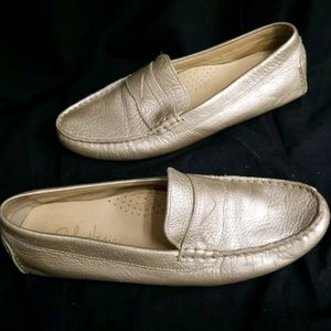 Cole Haan Nike Loafers Gold Metallic Size 8.5